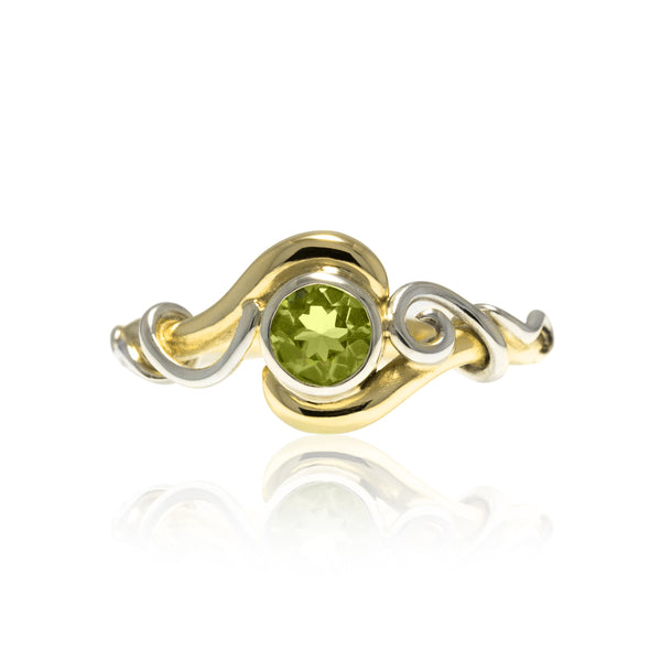 Entwine solitaire ring with tendrils