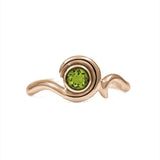 Entwine solitaire engagement ring in 9ct gold - rose gold and peridot