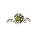 Entwine solitaire engagement ring in 9ct gold - white gold and peridot