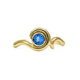 Entwine solitaire sapphire ring in 9ct gold