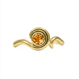 Entwine solitaire gemstone ring in 9ct gold