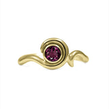 Entwine solitaire engagement ring in 9ct gold - yellow gold and rhodolite garnet