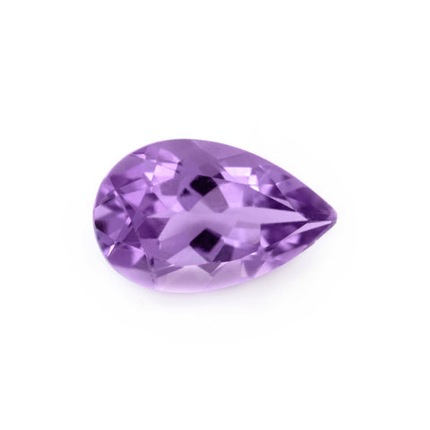 Amethyst pear facet