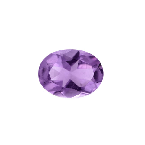 Amethyst oval facet