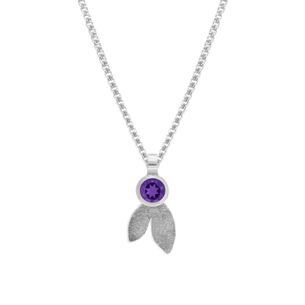 Spring pendant in sterling silver and gemstone - READY TO WEAR
