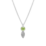 Spring pendant in sterling silver and gemstone