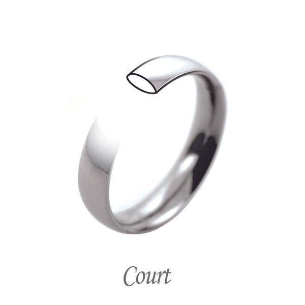Court shaped wedding band