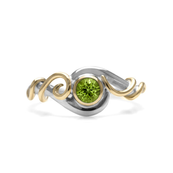 Bespoke tendril engagement ring