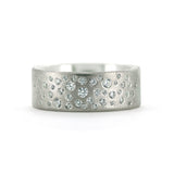 Diamond wedding ring - flush set
