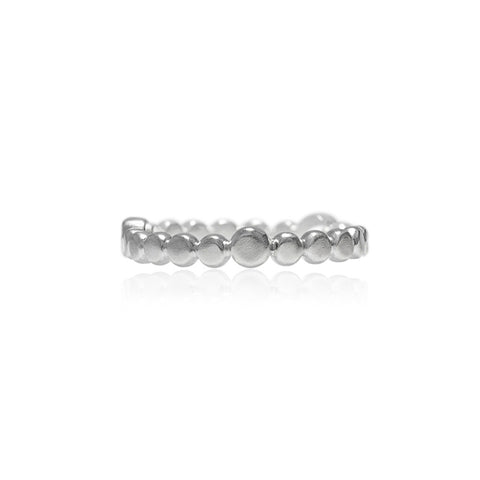 Sterling silver halo band of textured circles