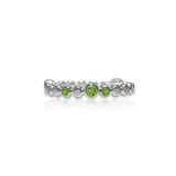 Sterling silver halo band - peridot