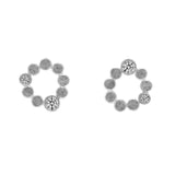 Sterling silver halo stud earrings - white topaz