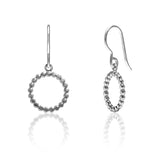 Sterling silver mini halo earrings