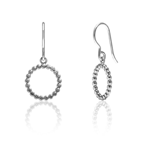 Mini halo earrings in sterling silver