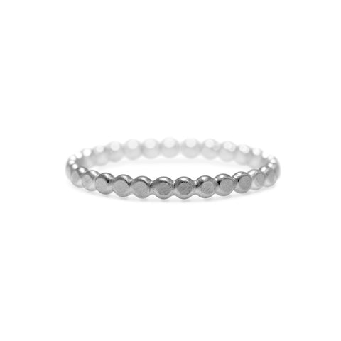 Mini halo band in sterling silver