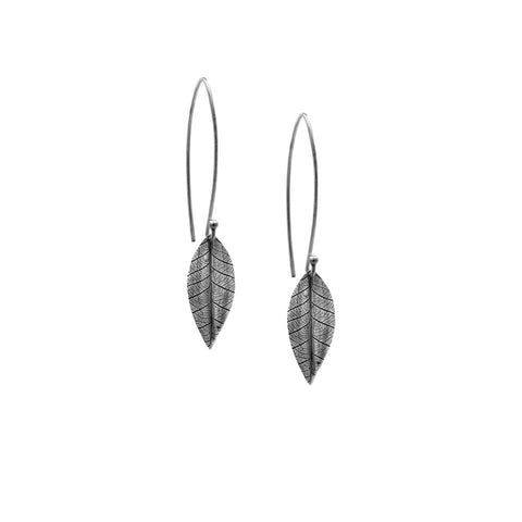 Silver leaf earrings - ready to wear
