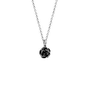Silver rose charm pendant - medium - ready to wear
