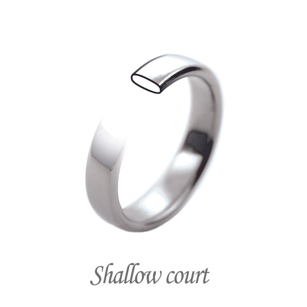 Shallow court shaped wedding band