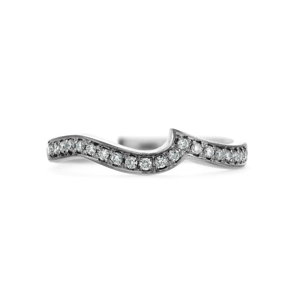 Shaped diamond wedding ring shaped to fit wedding ring fitted wedding band