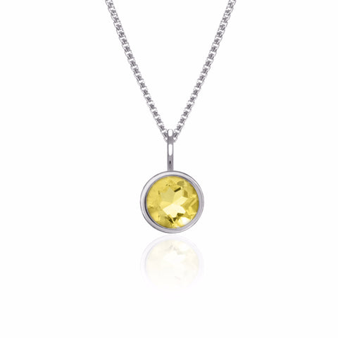 Solo pendant in sterling silver and citrine