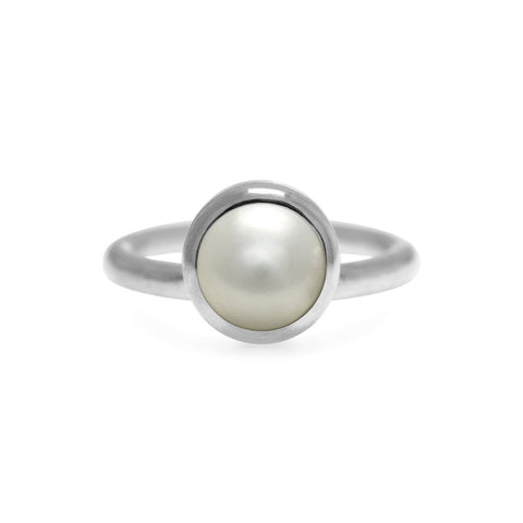 Solo ring in sterling silver and gemstone