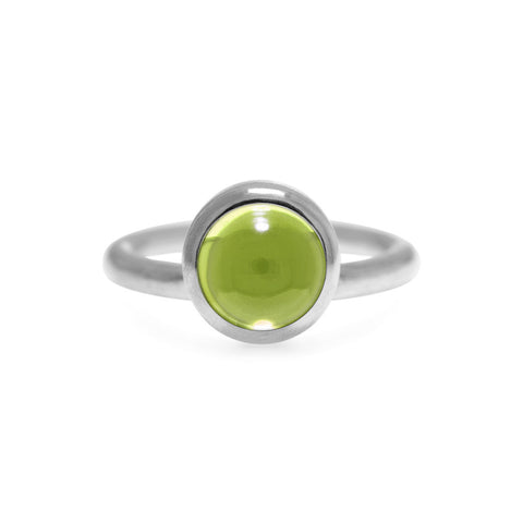 Solo ring in sterling silver and peridot