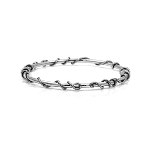 Tendril bangle in sterling silver