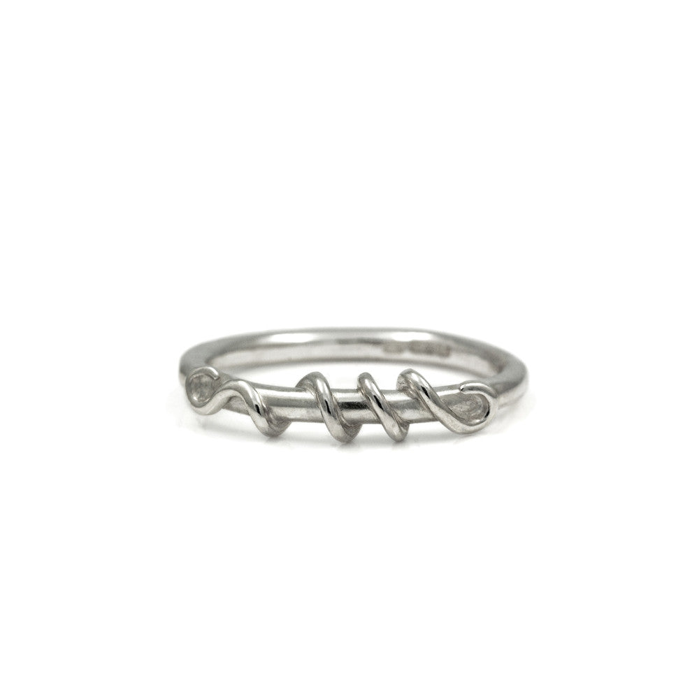 Tendril ring in sterling silver