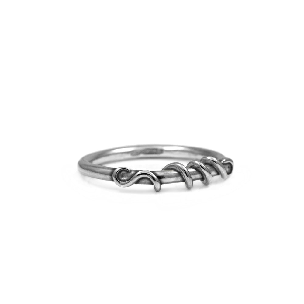 Tendril ring in sterling silver - READY TO WEAR