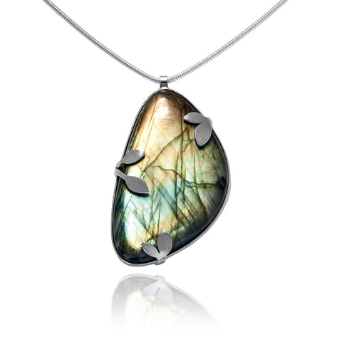 Spring necklace with labradorite - READY TO WEAR