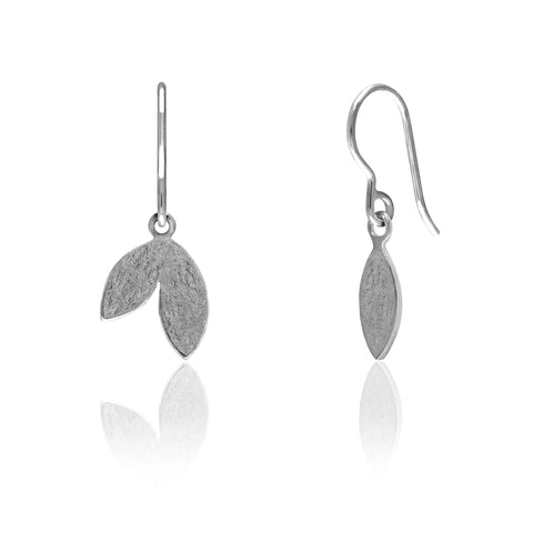 Spring earrings in sterling silver