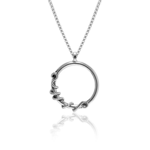 Tendril pendant in sterling silver - READY TO WEAR