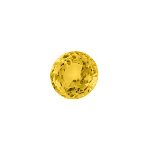 Yellow sapphire facet