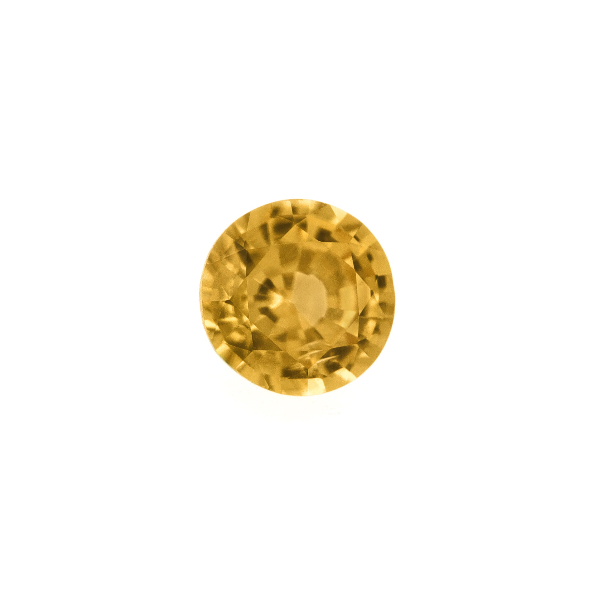 Yellow tourmaline facet