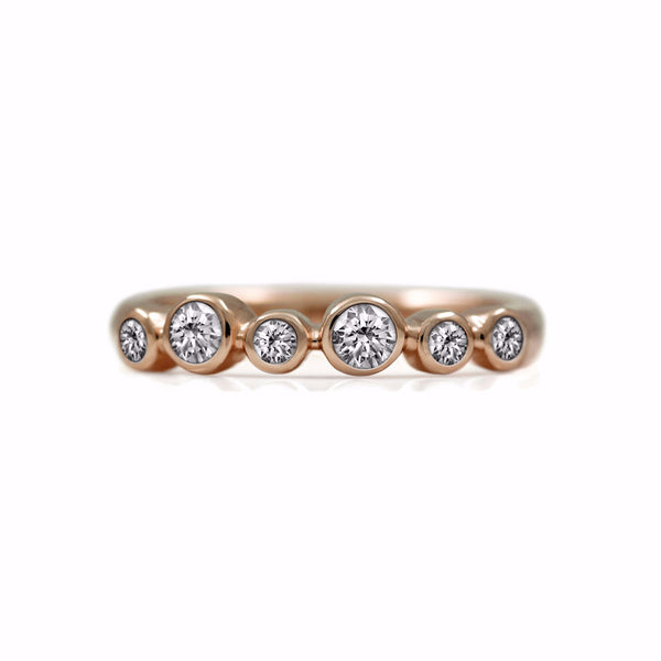 Halo eternity diamond ring - rose gold and diamond