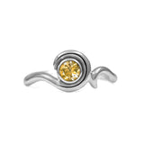 Entwine solitaire engagement ring in sterling silver - citrine