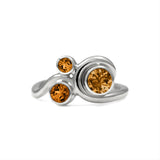 Entwine trilogy engagement ring in sterling silver and gemstone - citrine