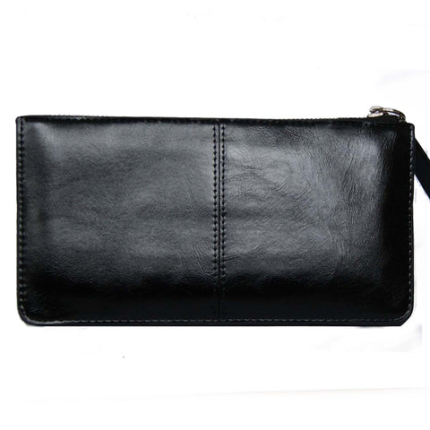 Black Top Zip Wallet with Wristlet