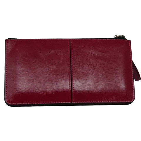 Fushia Top Zip Wallet with Wristlet