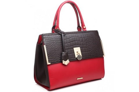 Bessie London Top handled tote Red