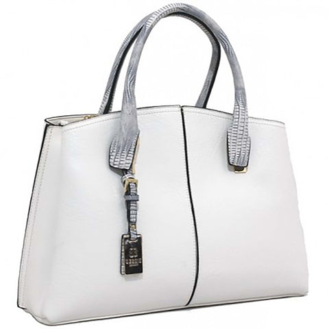 White Top Handled Tote Bag