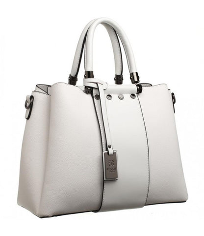 47bd8af0eb Bessie London White Two handled tote bag