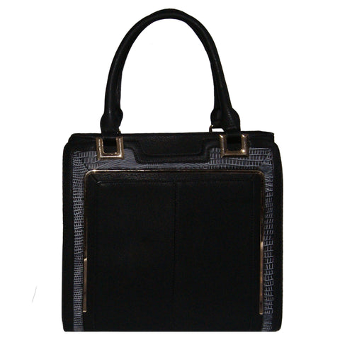 Black Structured Tote Bag