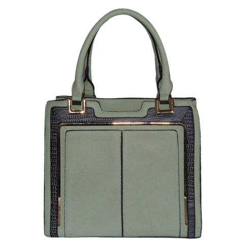Green Structured Tote Bag