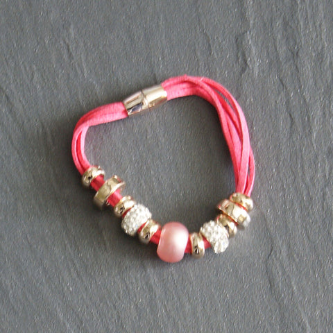 Pink Magnetic Cord Bangle
