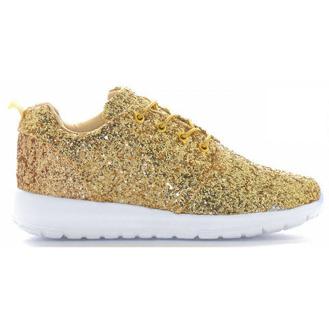 Gold Glitter trainers