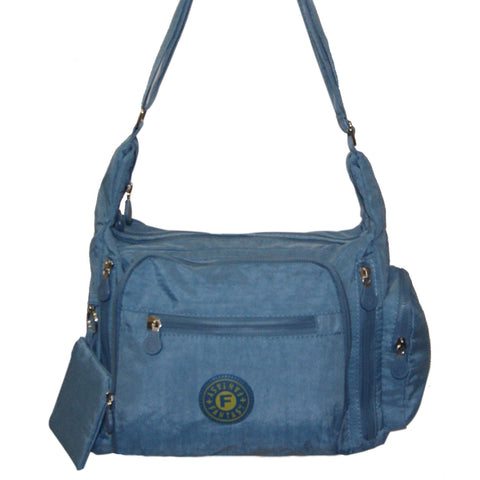 Light Blue  Gabbie Medium Shoulder Bag