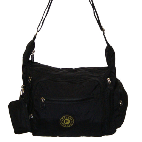 Black Gabbie Medium Shoulder Bag