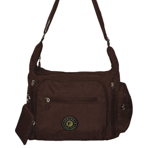 Brown Gabbie Medium Shoulder Bag