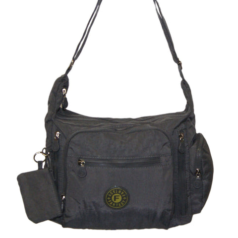 Grey Gabbie Medium Shoulder Bag